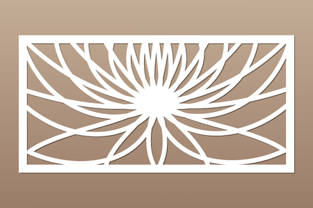 Decorative card for cutting. Geometric flower of lotus