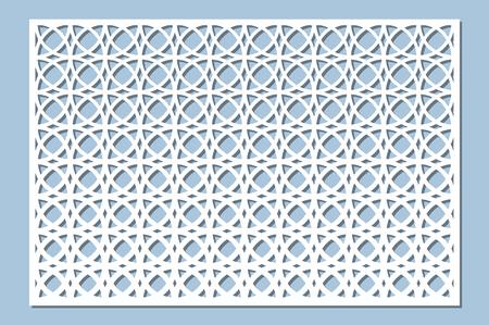 Set decorative card for cutting. Arabesque pattern. Laser cut panel. Ratio 2:3. Vector illustration. Çizim