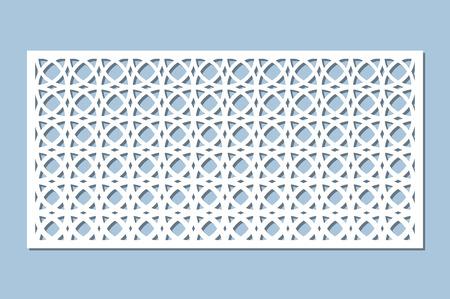 Set decorative card for cutting. Arabesque pattern. Laser cut panel. Ratio 1:2. Vector illustration.