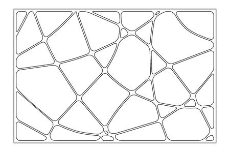 Set decorative card for cutting. Wave linear pattern. Laser cut panel. Ratio 2:3. Vector illustration. Illustration