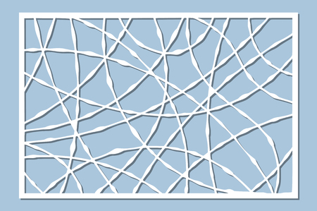 Set decorative card for cutting. Drop line pattern. Laser cut panel. Ratio 2:3. Vector illustration.