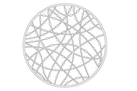 Set decorative circle card for cutting. Drop line pattern. Laser cut panel. Vector illustration.