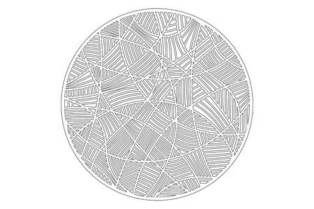 Set decorative circle card for cutting. Mosaic line pattern. Laser cut panel. Vector illustration.