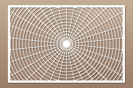 Laser cut panel. Decorative card for cutting. Geometry line pattern. Ratio 2:3. Vector illustration.