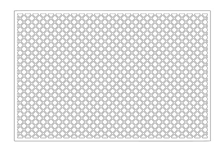 Laser cut panel. Decorative card for cutting. Geometry line grid pattern. Ratio 2:3. Vector illustration.