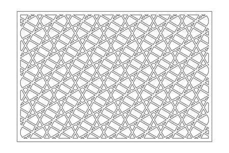 Set decorative card for cutting. Line, Arab, pattern. Laser cut. Ratio 2: 3. Vector illustration. Vetores