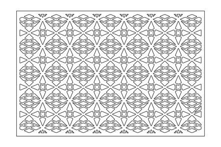 Set decorative card for cutting. Line, Arab, weaving, pattern. Laser cut. Ratio 2: 3. Vector illustration. Vetores