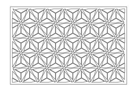 Decorative card for cutting. Arab geometric mosaic pattern. Laser cut. Ratio 2: 3. Vector illustration.