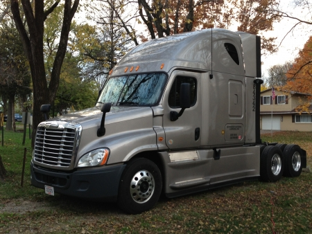 freightliner: A road tractor s first time home after it s first road trip  Editorial