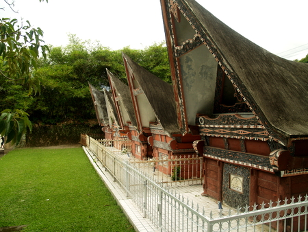 Traditional Batak graves at Samosir