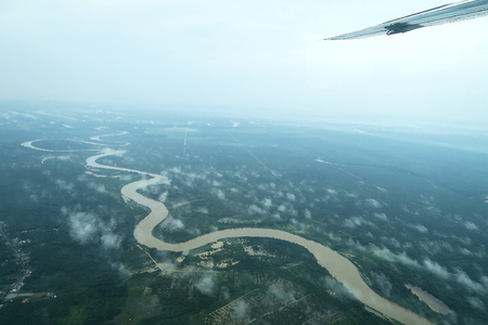 Aerial View of Sumatra Rainforest in Aceh, Indonesia