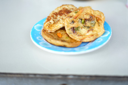 Homemade Vegetable Fritters or Bakwan from Indonesia