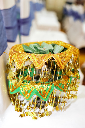 Betel nut tray for wedding ceremony in Indonesia