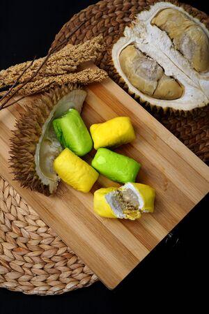 Indonesian Sweet Durian Cake or Pancake Durian from medan