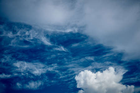 Natural white cloud and Bright blue sky landscape background