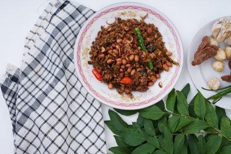 Stir Fried spicy Tuna chunks with ingredients