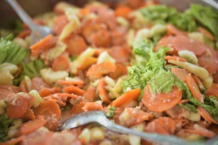 Fresh homemade Traditional salad, Healthy Vegetable Food