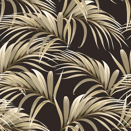 fondo dorado con hojas de palmera