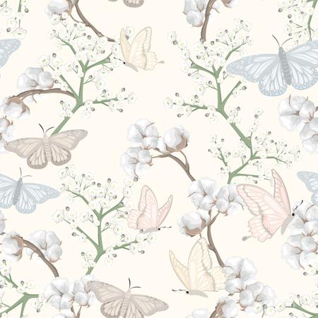 flores y flores de algodon