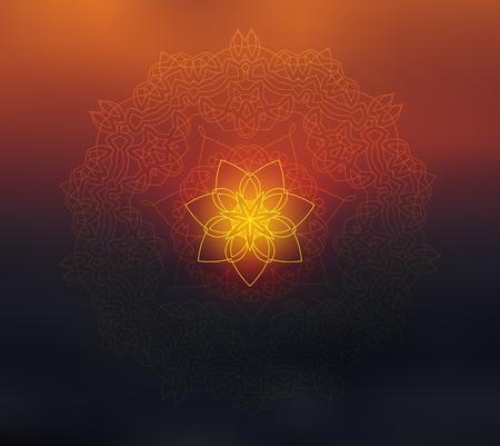 shiny: Shiny mandala on blurred layout.