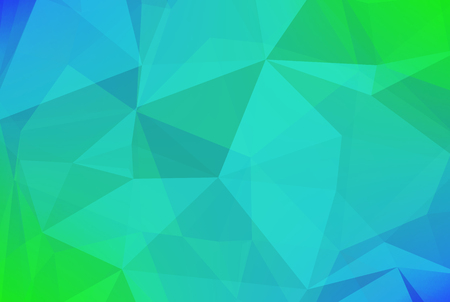 Abstract horizontal triangle background. Tender smooth polygonal backdrop for business presentation. Soft gradient color transition for mobile application and web. Trendy geometric colorful banner. Illustration