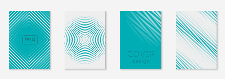 Minimal trendy covers. Vector halftone gradients. Geometric future template for flyer, poster, brochure and invitation. Minimalistic colorful cover. Illustration