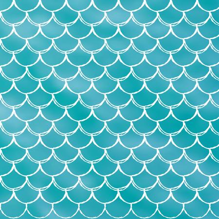Chelle de sirène sur fond dégradé tendance. Fond carré avec ornement échelle de sirène. Transitions de couleurs vives. Bannière et invitation de queue de poisson. Motif sous-marin et marin. Turquoise, couleurs bleues. Banque d'images - 84274017