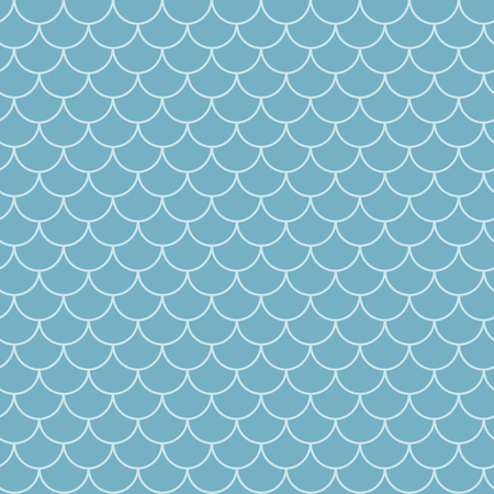 Fish scale seamless pattern. Reptile, dragon skin texture. Tillable background for your fabric, textile design, wrapping paper, swimwear or wallpaper. Blue mermaid tail with fish scale underwater. Illusztráció