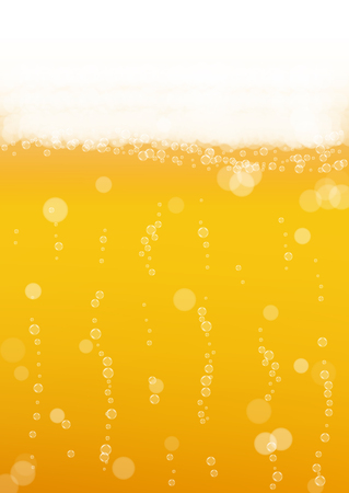unstrained: Beer with realistic bubbles