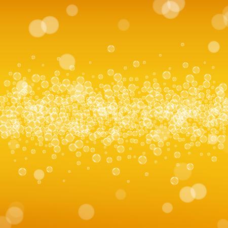 Bier met realistische bubbels Stock Illustratie