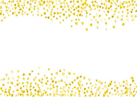 5 802 Gold Confetti Border Stock Vector Illustration And Royalty
