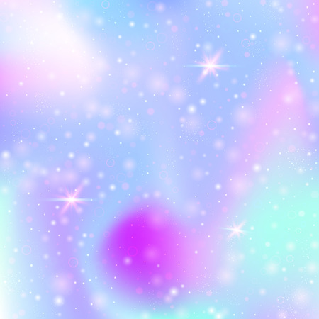 Hologram abstract background. Plastic gradient backdrop with hologram. 90s, 80s retro style. Pearlescent graphic template for banner, flyer, cover design, mobile interface, web app.