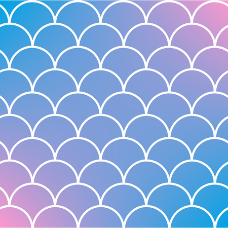 Fish scale on trendy gradient background. Square backdrop with fish scale ornament. Vector illustration. Illustration