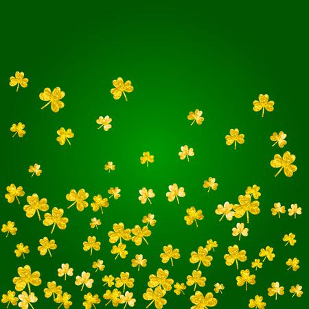 Lucky trefoil confetti image illustration Illustration