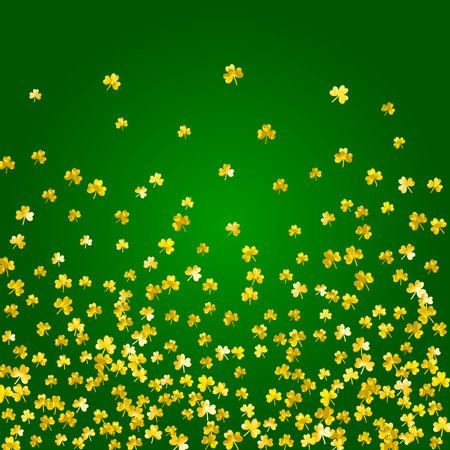 Glitter frame of clover leaves illustration