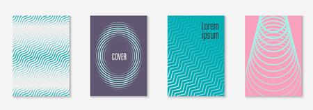 Ensemble de modèles de couverture tendance minimal. Disposition futuriste avec demi-teintes.