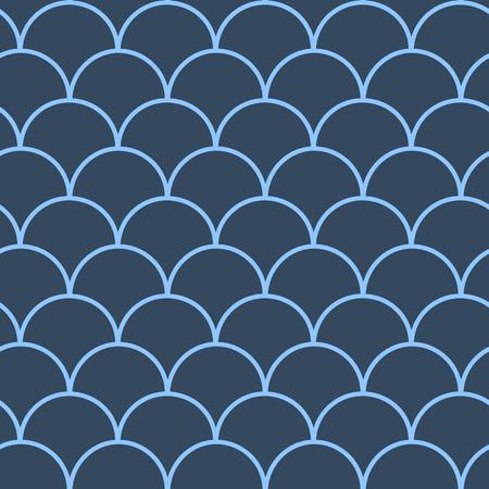 Fish scale seamless pattern.