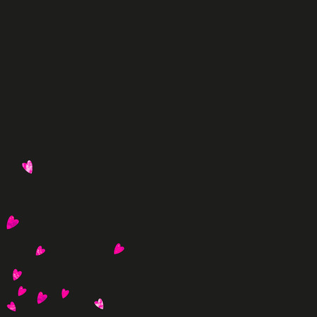 Mothers day background with pink glitter confetti. Isolated heart symbol in rose color.  Postcard for mothers day background. Love theme for poster, gift certificate, banner. Women holiday design