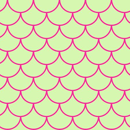 Girl Mermaid Seamless Pattern Purple Fish Skin Backdrop