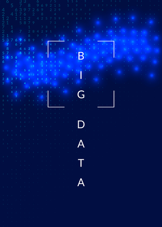 Big data background. Technology for visualization, artificial intelligence, deep learning and quantum computing. Design template for intelligence concept. Modern big data backdrop.