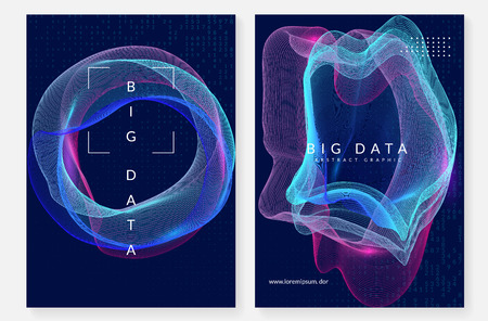 Quantum computing background. Technology for big data, visualization, artificial intelligence and deep learning.