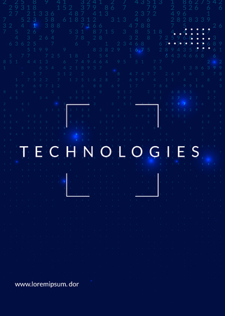 Quantum computing background. Technology for big data, visualization, artificial intelligence and deep learning. Design template for networking concept. Vector quantum computing backdrop. Stock Photo