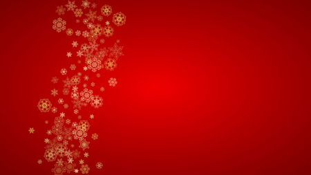 Christmas snowflakes on red background.
