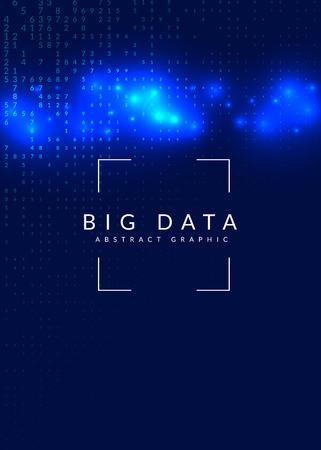 Big data background. Technology for visualization, artificial intelligence, deep learning and quantum computing. Design template for intelligence concept. Digital big data backdrop.