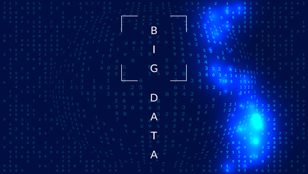 Big data background. Technology for visualization, artificial intelligence, deep learning and quantum computing. Design template for intelligence concept. Cyber big data backdrop. 일러스트