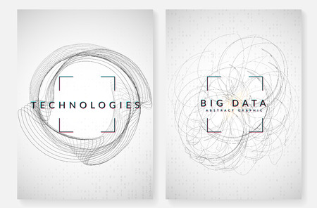Artificial intelligence background. Technology for big data, visualization, deep learning and quantum computing. Design template for information concept. Futuristic artificial intelligence backdrop.