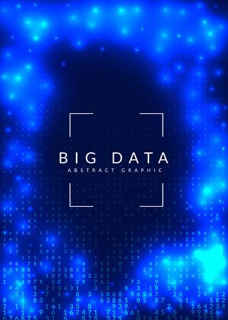 Fond de données volumineuses. Technologie pour la visualisation, l'intelligence artificielle, l'apprentissage en profondeur et l'informatique quantique. Modèle de conception pour le concept informatique. Toile de fond big data colorée. Banque d'images