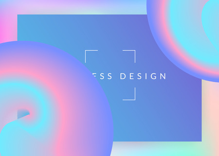 Liquid fluid. Minimal interface, app layout. Holographic 3d backdrop with modern trendy blend. Vivid gradient mesh. Liquid fluid with dynamic elements and shapes. Landing page. 일러스트