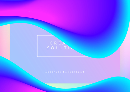 Landing page. Holographic 3d backdrop with modern trendy blend. Soft mobile, website frame. Vivid gradient mesh. Landing page with liquid dynamic elements and fluid shapes.