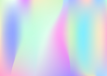Gradient mesh abstract background. Spectrum holographic backdrop with gradient mesh. 90s, 80s retro style. Iridescent graphic template for banner, flyer, cover design, mobile interface, web app.